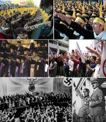 Hitlerhälsningar från Hisbollah och Hamas